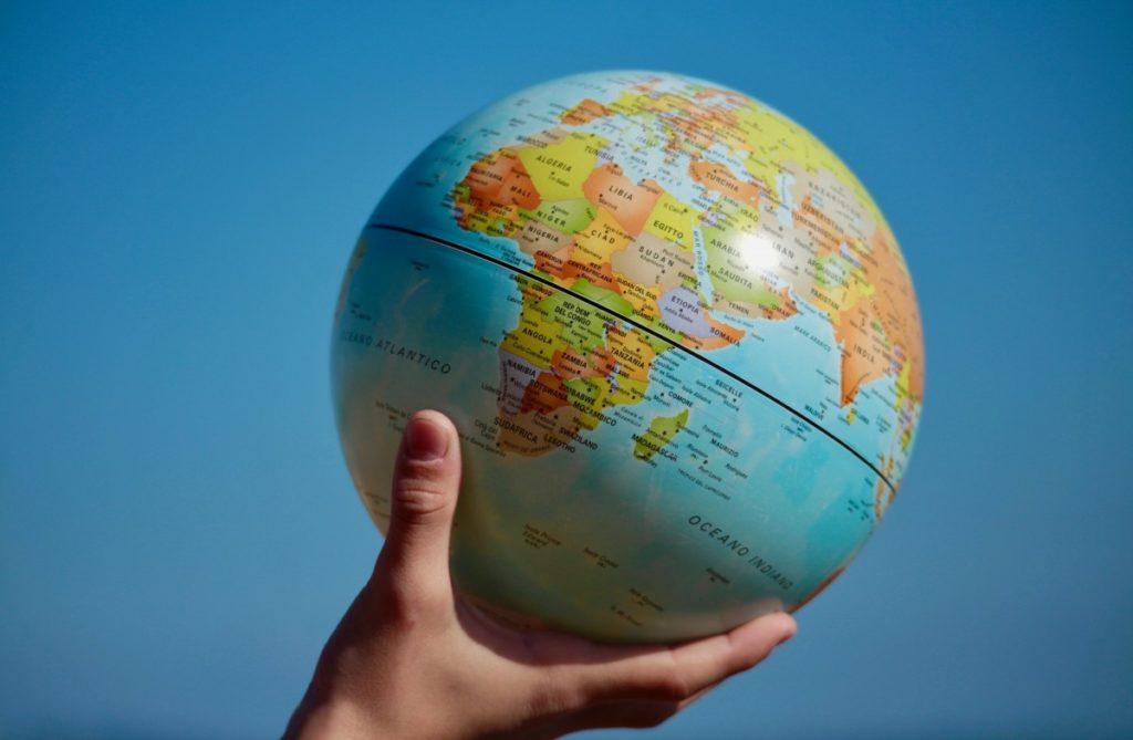 Globus, świat, mapa