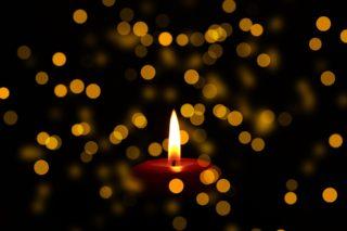 świece, żałoba