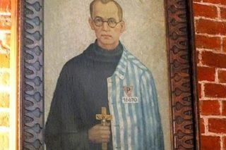 Kołobrzeg, bazylika konkatedralna Wniebowzięcia Najświętszej Maryi Panny - obraz św. Maksymiliana Kolbe
